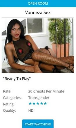 An example of a slide-out price menu of a models chat room, as found on Flirt4Free.com
