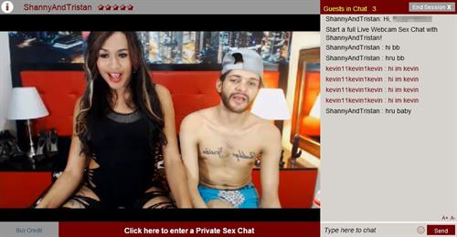 A lively transgender couple misbehaving on Shemale.com